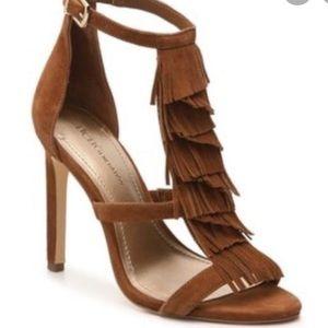BCBG generation Chari Fringe suede sandals